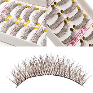 Wholesale natural looking makeup for sale - Group buy Pairs Makeup Brown Color False Eyelashes Cross Natural Look Nude Make Up Fake Eye Lashes Eyelash Extension