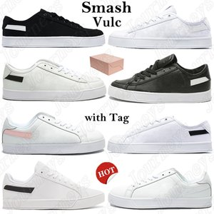 Wholesale box smash for sale - Group buy Men Smash Vulc Women Running Shoes With Box sport Trainers black white sliver glod pink canvas leather classic Sneakers Tag US