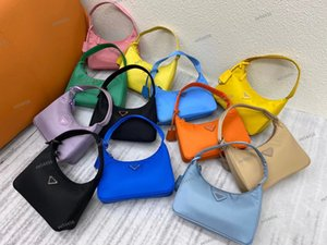 Wholesale metallic hobo bag resale online - High quality reedition luxury Designer Crossbody Shoulder bags duffle Nylon leather bag tote famous Handbags messenger Lady wallet Hobo purse