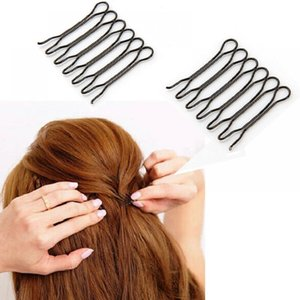 Wholesale sterling silver hair barrette for sale - Group buy Clips Hairpin2pcs Waved U shaped Bobby Pin Barrette Salon Grip Clip Black Dropshiping Front Hair Comb