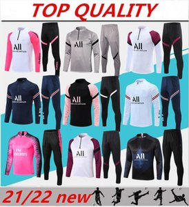 Wholesale soccer jogging resale online - 2021 soccer training suit MBAPPE Long sleeved sweatshirt maillot de foot DI MARIA VERRATT football jogging jacket tracksuit