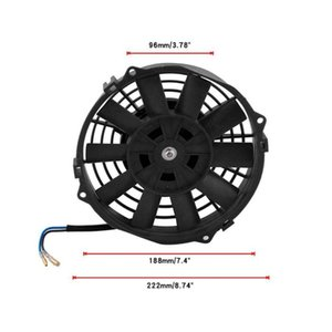 Wholesale 12v fans resale online - Inch Electric Fan V Radiator Oil Cooling Car Truck ATV Boat RV Universal Mounting Kit Accessories Fans