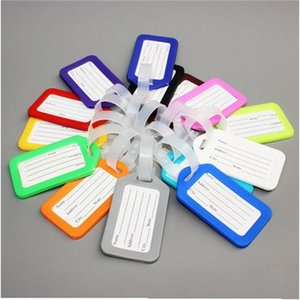 Wholesale plastic label holders for sale - Group buy PVC Plastic Luggage Tag Holder Labels Strap Name Address ID Suitcase Bag Baggage Travel Luggage label Random S2