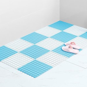 Wholesale water proof flooring resale online - Bath Mats Splicing Water proof Floor Toilet Shower Household Bathing Toilets Kitchen Bathroom Non slip