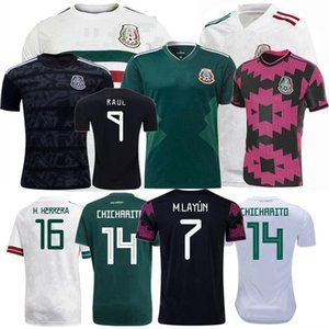 Wholesale soccer team mexico resale online - 2018 Mexico Soccer Jerseys national team H MORENO RAUL H LOZANO CHICHARITO football men kids and women shirt