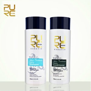PURC Daily Hair Shampoos and Conditioner for Straightening Smoothing Repair Female Male Hairs Care 2pcs set 200ml