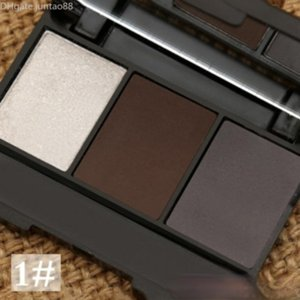Wholesale brow palettes for sale - Group buy Eyebrow powder Colors Eye brow Powder Palette Waterproof and Smudge Proof With Mirror and Eyebrow Brushes Inside