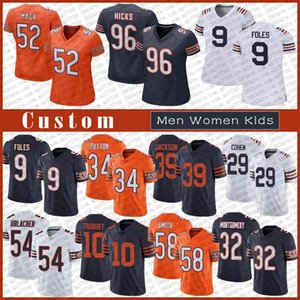 Wholesale dalton jersey resale online - 52 Khalil Mack Custom Men Women Kids Football Jersey Walter Payton Andy Dalton Damien Williams Mitchell Trubisky Eddie Jackson Brian Urlacher Foles