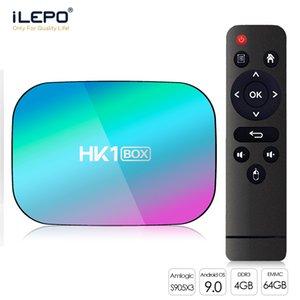 HK1 TV Box Amlogic S905X3 quad core 4+32 64GB Android 9.0 Support Bluetooth 5.0 2.4+5.0G WiFi SmartTV 1000M