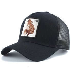 Wholesale snapback caps fox resale online - fox embroidery women baseball caps gorras animales hombre mens mesh baseball cap outdoor summer Snapback