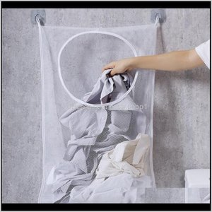 Wholesale hanging bathroom for sale - Group buy Houseables Hanging Laundry Hamper Dirty Clothes Bag For Bathroom Storage Space Saving Wall Closet Behind Doors Glbf Bags Gdkso