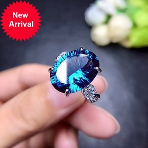 Wholesale rings london resale online - MeiBaPJ Natural London Blue Topaz Gemstone Trendy Ring for Women Real Sterling Silver Charm Fine Jewelry
