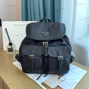 Wholesale bag packs for women resale online - High quality fashion backpack Luxury designer shoulder bag messenger for women men back pack canvas handbag School classic parachute fabric