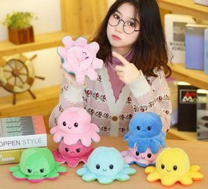 Wholesale octopus soft toys for sale - Group buy Reversible Flip Octopus Stuffed Plush Doll Soft Reversible Plush Toys Color Chapter Plush Animals Figures Lovely Child Gifts