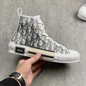 ko großhandel-High Top Sneakers Dior Air Converse Baskets Femmes Low Canvas Oblique B23 Designers Women Luxurys KAWS Hommes Chaussures Men Casual Shoes