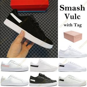 Wholesale box smash resale online - 2021 Smash Vulc Men Women Running Shoes black white sliver glod pink canvas leather runner Trainers sport Sneakers with Box Tag