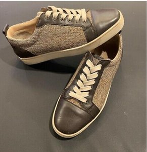 ingrosso scarpe da uomo tela marrone unico-Brown Brown Canvas Skate Casuals Shoe Flats Red Soles Gomber Low Top Uomini Donne Donne Scarpe Casual Designs Bottom Schiude Spikes di Fashion Insider Sneakers Scarpe da ginnastica