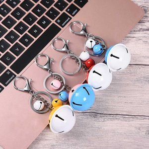 Wholesale car two color for sale - Group buy keychain Two Color Bell Lobster Creative Gift Diy Key Chain Woven Leather Rope Car Bag Pendant