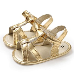 Wholesale bow fingers resale online - Sandals Pu children s Artificial Korean summer breathable bow baby dew finger girls sandals