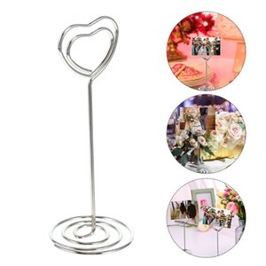 Wholesale memo clip note holder resale online - 20pcs Tabletop Cards Holder Heart Shape Po Clips Memo Note Clamp For Home Greeting