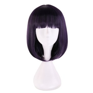 Wholesale sailor saturn for sale - Group buy Anime Sailor Moon Sailor Saturn Wig Cosplay Wigs Tomoe Hotaru cm Purple Black Mix Short Bobo Synthetic Hair Wigs Wig Cap