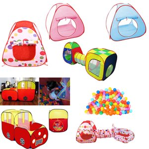 Wholesale kid games play resale online - Play House Indoor and Outdoor Easy Folding Ocean Ball Pool Pit Game Tent Play Hut Girls Garden Playhouse Kids Children Toy Tent