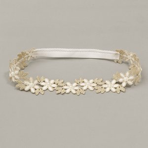 Wholesale kids lace hairband for sale - Group buy Baby Hollowing Out Lace Headband Girls Embroidery Daisy Flowers Elastic Hairband Kids Fashion Hair Accessories mq J2