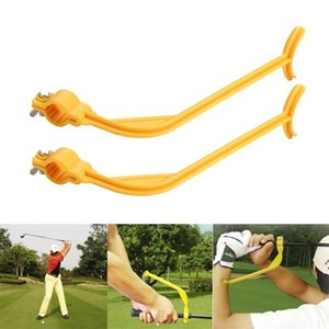 Wholesale golf alignment training aids resale online - Practice Guide Golf Swing Trainer Beginner Alignment Clubs Gesture Correct Wrist Training Aids Tools Accessories