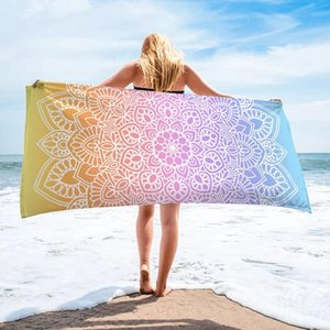 Wholesale large blankets resale online - Beach Towel For Adults Large Gym Sport Swimming Pool Yoga Mat Fashion Summer Surf Robe Blanket Blankets