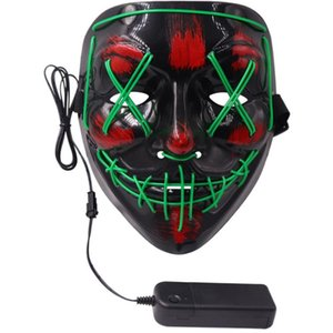 Wholesale purge masks for sale - Group buy Halloween Mask LED Light Up Party Masks The Purge Election Year Great Funny Masks Festival Cosplay Costume Supplies Glow In Dark R2