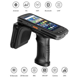 scanner 3g venda por atacado-Android Mobile Data Collector D D Scanner de código de barras IP67 Rugged Handheld PDA UHF RFID Reader com G RAM G ROM Scanners