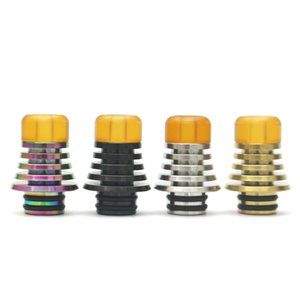 Wholesale stainless steel drip tip 510 for sale - Group buy 510 stainless steel drip tip with pei mouthpiece suit for falcon tfv8 baby etc black silver gold rainbow color