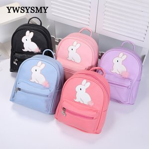 Wholesale backpacks for toddlers resale online - Mini Backpack Kindergarten Baby Toddler Backpack for Girls School Bags Cartoon Rabbit Children Backpack Pu Zipper Kids Book Bags