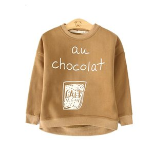 Wholesale children printed t shirts for sale - Group buy Fashion Autumn Winter Sweatshirt Boys Kids Child Girls T Shirts Long Sleeve Letter Printed Baby Toddlers Clothes Tops