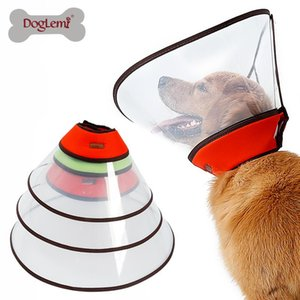 Wholesale e collar dogs resale online - Large Pet Cats Dogs Elizabethan Collar For Wound Healing Remedy Recovery Protective Anti Bite E Supplies Dog Collars Leashes