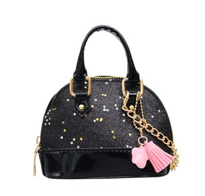 Wholesale kids children mini designer handbag for sale - Group buy Children Mini Shoulder Girls Shinning Glitter Purse for Toddler Kids Shell Sequin Bags with Chain Cute Handbag