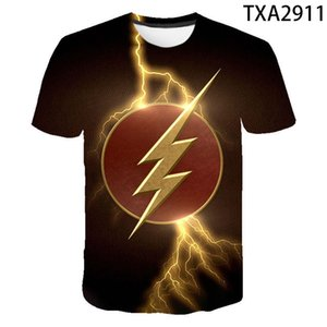 ingrosso super eroi dc-Cool D T Shirt da uomo Donne Bambini Il flash DC Anime Stampa T Shirt Estate Casual Casual Manica Corta Boy Girl Kids Super Hero Top Tee