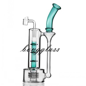 Wholesale bamboo bong resale online - 9 inchs Straight bamboo glass water bong hookahs bubbler heady dab rig smoke oil burner pipe cigarette accessory with mm banger