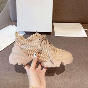 Wholesale net top shoes for sale - Group buy Paris women show style casual sneaker shoes To weave a net classical Shock absorbing top quality with box