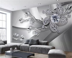 Custom Modern 3d Wallpapers Cool Metal Texture Diamond Jewels Living Room TV Background Wall Decoration Mural Wallpaper