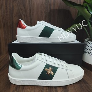 Wholesale ace sports resale online - Top Quality Mens Womens Sneakers Casual Shoes Low Cut Italy Ace Bee Stripes Shoe Flat Leather Snake Tiger Walking Sports Trainers Chaussures Pour Hommes