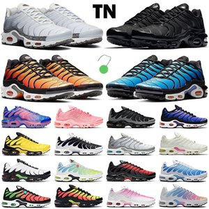 ingrosso rosa pastello-2021 tn shoes uomo donna scarpe da corsa fashion trainer triple nero bianco Hyper Blue Pastel Crater Pink Fade Lava Worldwide Pimento sneakers sportive da uomo