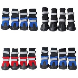 Wholesale boots dogs for sale - Group buy Waterproof Winter Dog Boots Reflective Pet Snow Boot Shoes for Small and large dogs R2