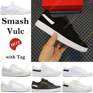 Wholesale box smash resale online - Box Smash Vulc Running Shoes Mens Womens Sneakers with Tag black white sliver glod pink canvas leather sport classic Trainers