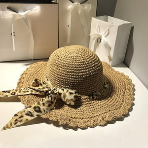 filles crochet bord du chapeau achat en gros de-news_sitemap_homeLéopard Streamer Handmade Crochet Chapeau de paille Femelle Summer Beach Sunscreen Sun Fashion Fille Large Brim Chapeaux