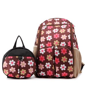 Wholesale kid backpack harness for sale - Group buy Maternity dress Waterproof Flower Printed Mummy Maternity Travel Diaper Stroller Nursing Bag Kids Safety Harness Backpack