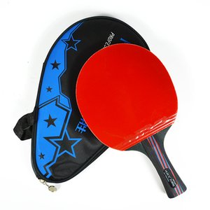 Wholesale table tennis long pimple rubber for sale - Group buy 1Pcs Carbon Fiber Table Tennis Racket Blade Double Face Pimples in Rubber Long Short Handle Table Tennis Bat with Cover