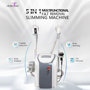 Wholesale freeze fats machine for sale - Group buy Cryotherapy fat freezing machine waist slimming cavitation rf equipment weight reduction lipo laser cryo heads can work at the same time