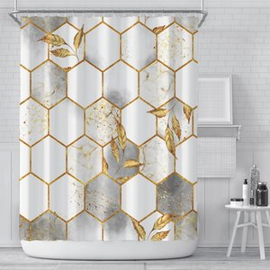 Wholesale curtains resale online - New curtain creative digital printing curtain waterproof polyester bathroom curtain sunshade shower curtains customization OOD5460