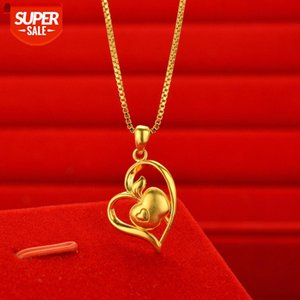 Wholesale sterling apple necklace for sale - Group buy Japan and South Korea fashion Vietnam sand gold women s love necklace imitation k real gold plated apple women ze4C